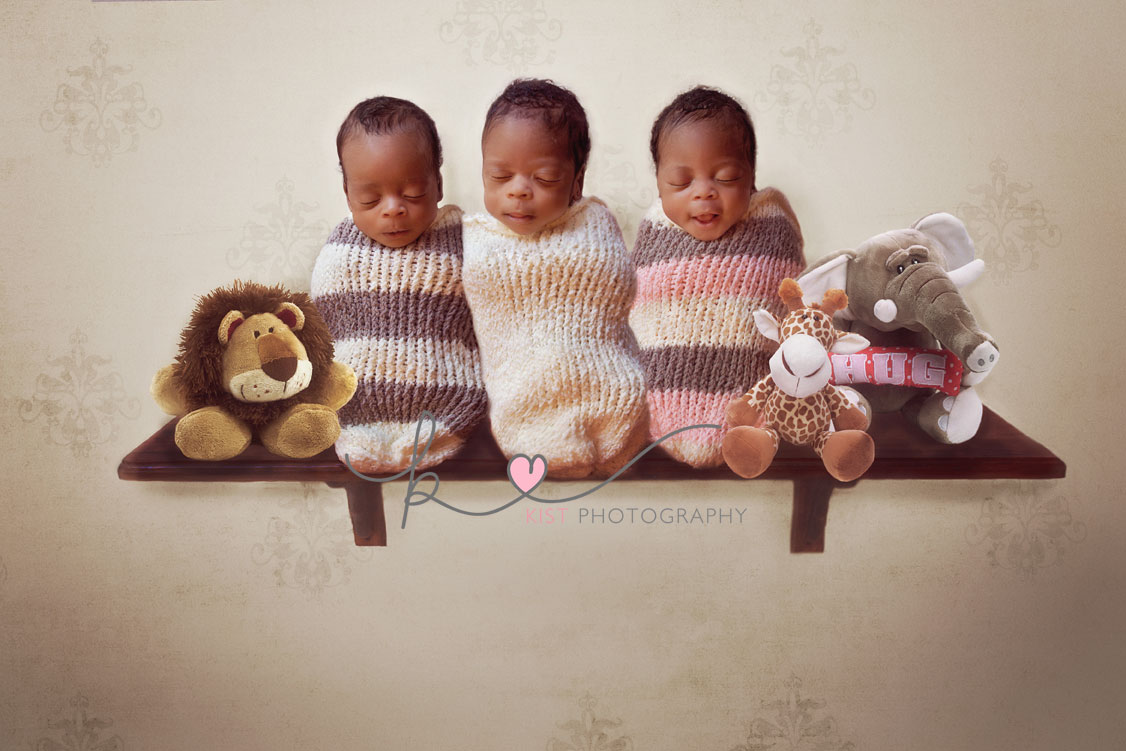 Newborn Triplets - Fine art Photography - Johannesburg - Kist Photography